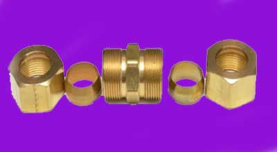 Copper Compression Tube Fittings