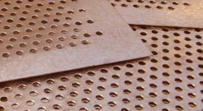 Cupro Nickel 70/30 Chequered Plates, Cu-Ni 70-30 Perforated